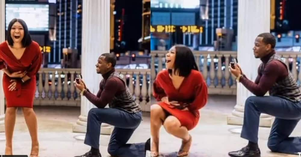 Man gives his girl surprise proposal during casual photoshoot in adorable video