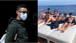 After crashing out of Euro 2020, Ronaldo spotted in expensive yacht as he goes on holiday with family