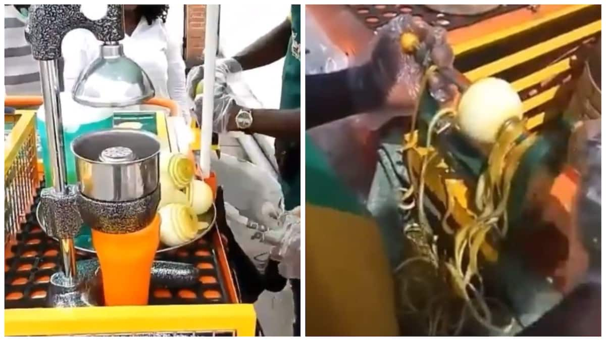 Gifted engineer in Port Harcourt creates orange peeling machine called 'Oran-go'