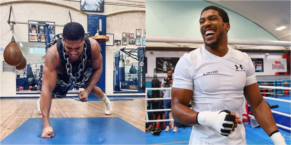 Anthony Joshua trains in weighted vest, chains ahead of Fury's bout