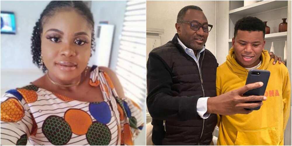 Nigerian lady and Otedola's son