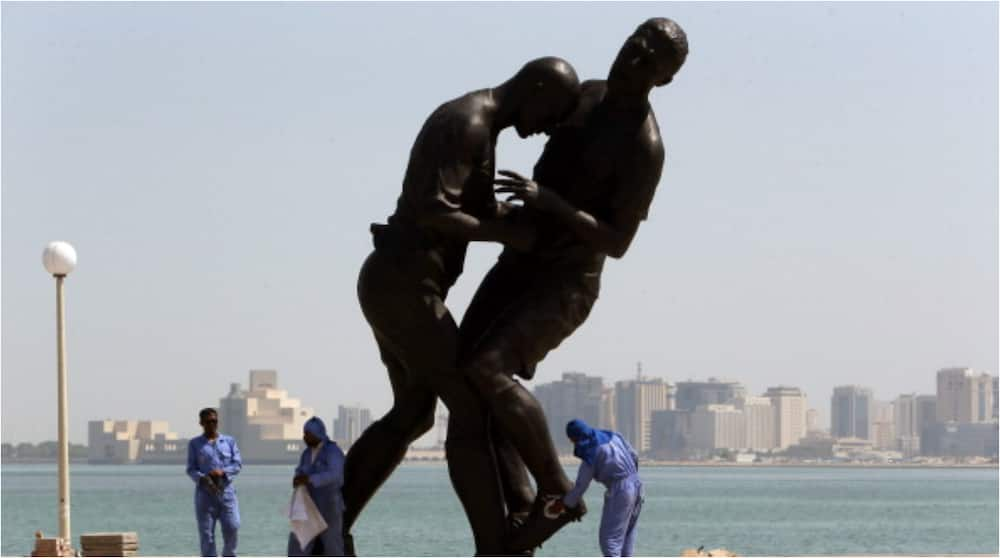 Huge Statue of France Legend Zinedine Zidane Headbutting Marco Materazzi Bought by Qatar
