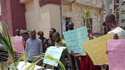 Imo state oil producing commission workers protest 80% Salary Slash