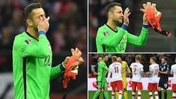 Former Arsenal star leaves pitch in tears as he makes final appearance for his national team