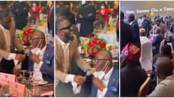 Sanwo-Olu cracks guests up as he sings with Timaya at event, says 'I don't want to die o'