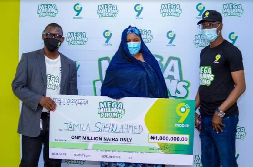 More winners emerge in the 9mobile Mega Millions Promo in Kano state