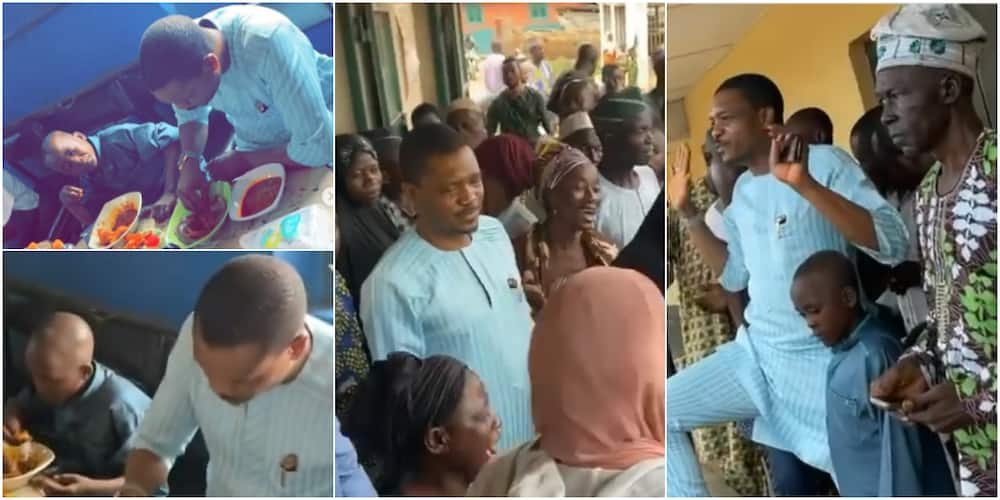 Shina Peller was recently in his hometown of Iseyin, Oyo state