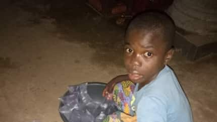 Nigerian man shares photo, narrates his experience with a 12-year-old orphan who hawks pure water
