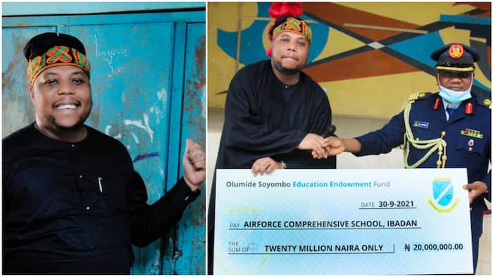 Nigerian man visits his former secondary school after he made it in life, donates N20m as endowment fund