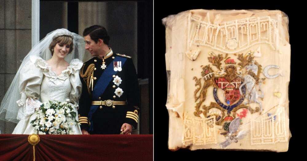 Princess Diana, Prince Charles, Wedding Cake Slice, Auction