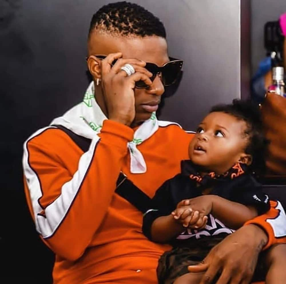 Wizkid's son Zion spotted 'working' at the studio (photo)