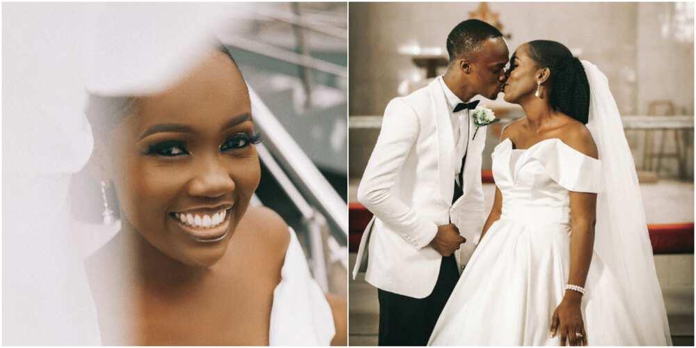 Nigerian lady sends social media into frenzy as she marries her heartthrob, shares adorable wedding photos