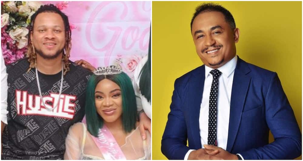 Uche Ogbodo's baby daddy Bobby Maris and Daddy Freeze.
