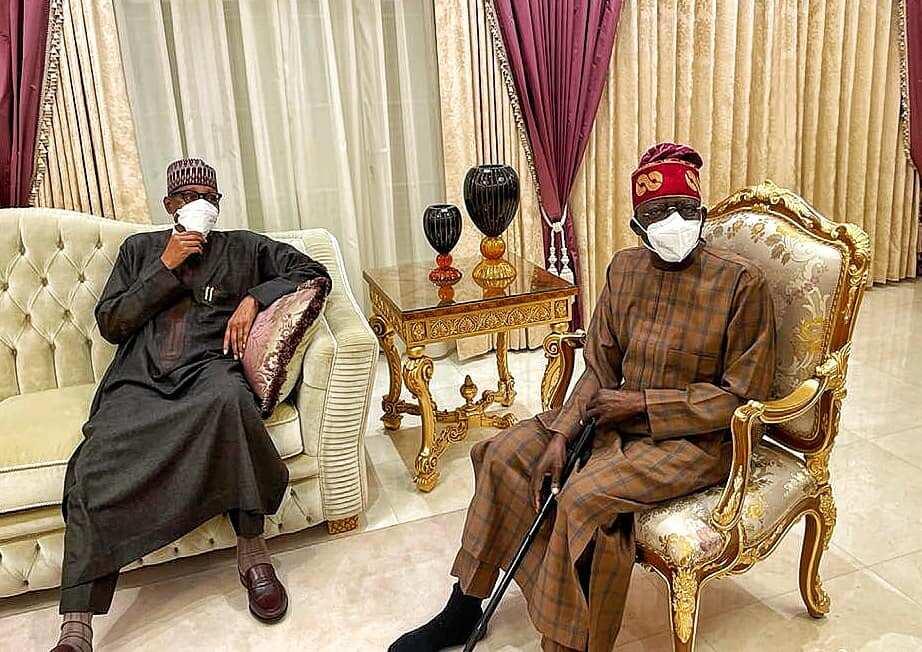 President Muhammadu Buhari and Bola Ahmed Tinubu.