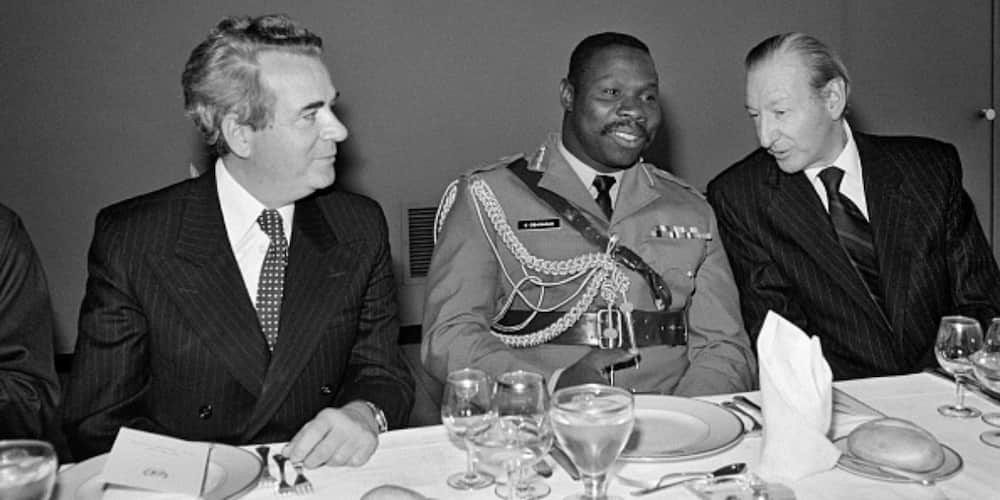 Olusegun Obasanjo with Kurt Wladheim.