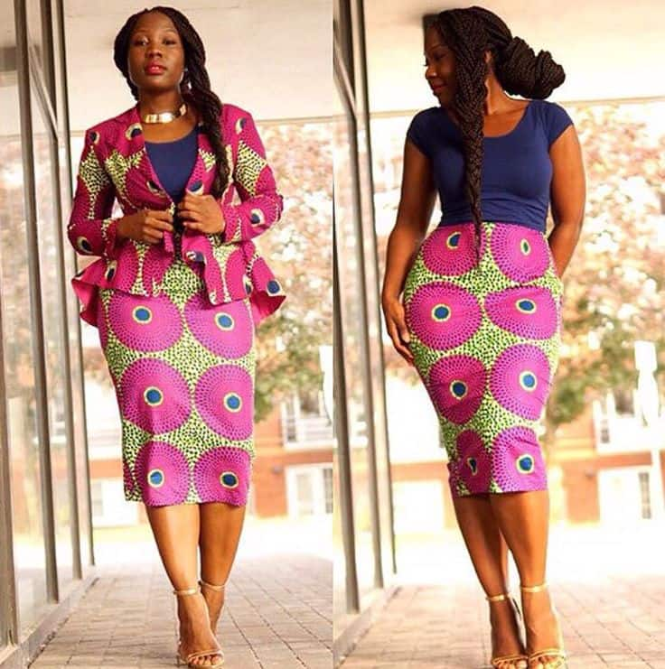 ankara office skirt