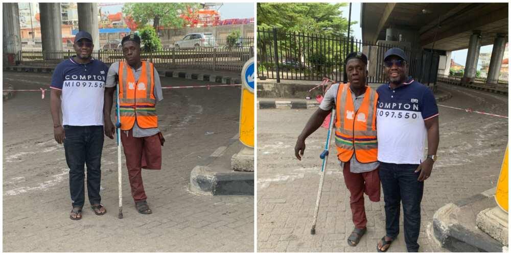 Man Seeks Support to Help Hardworking Lagos Traffic Warden with One Limb Get Artificial Leg, Nigerians React