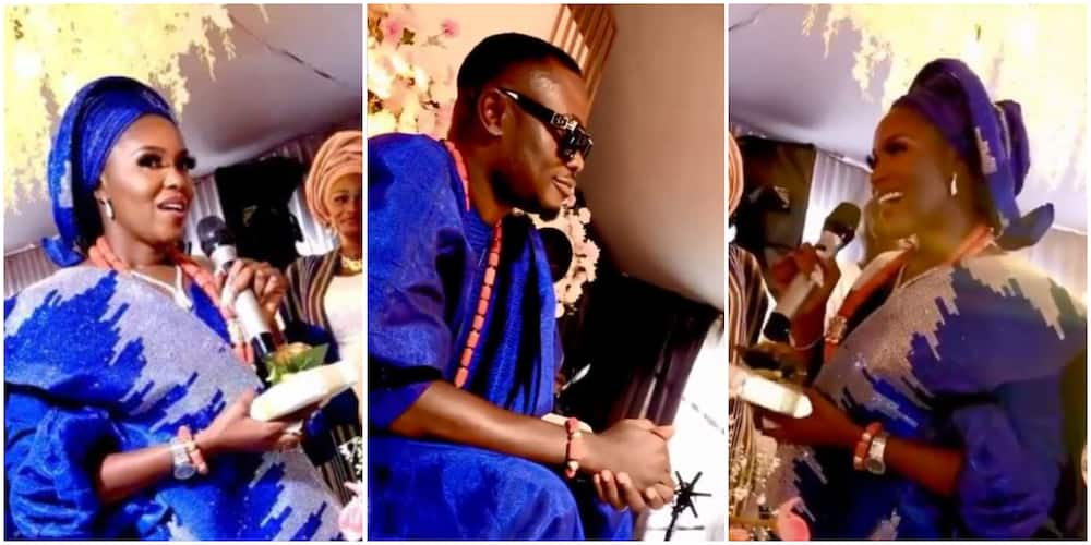 He Is a Gift From God to Me; Biola Adebayo Gives Touching Speech About Hubby at Her Wedding Ceremony