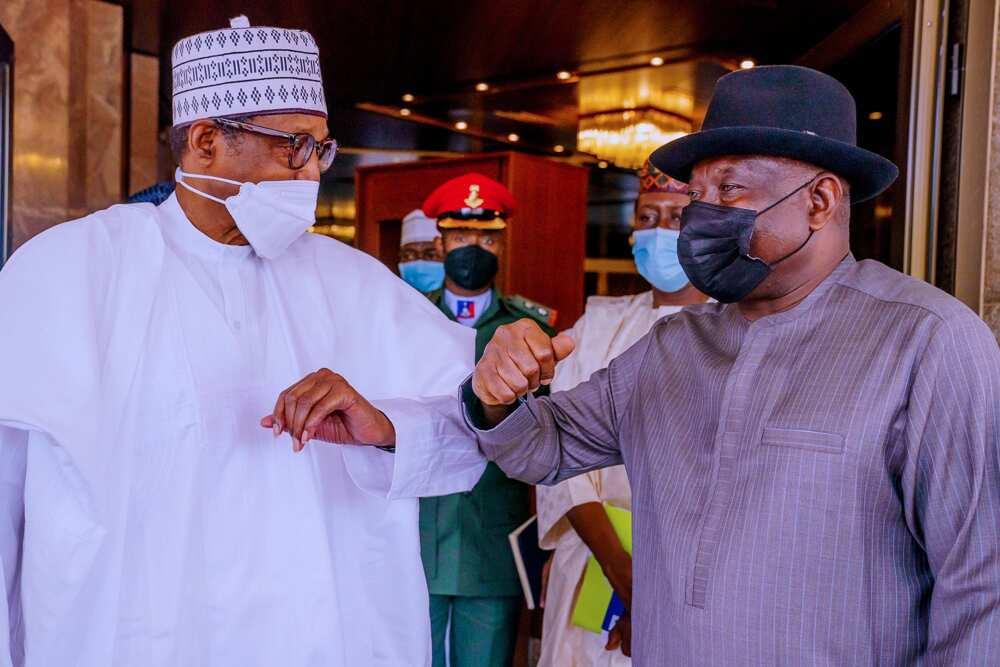 Tsohon Shugaban kasa Goodluck Jonathan ya kai wa Buhari ziyara a Abuja