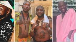 E be like tattoo competition: Hilarious reactions as Davido finally links up with Seun Kuti