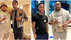 Cubana Chiefpriest visits Manchester, chills with Pogba, Sterling, Baily, promises to bring them to Asaba