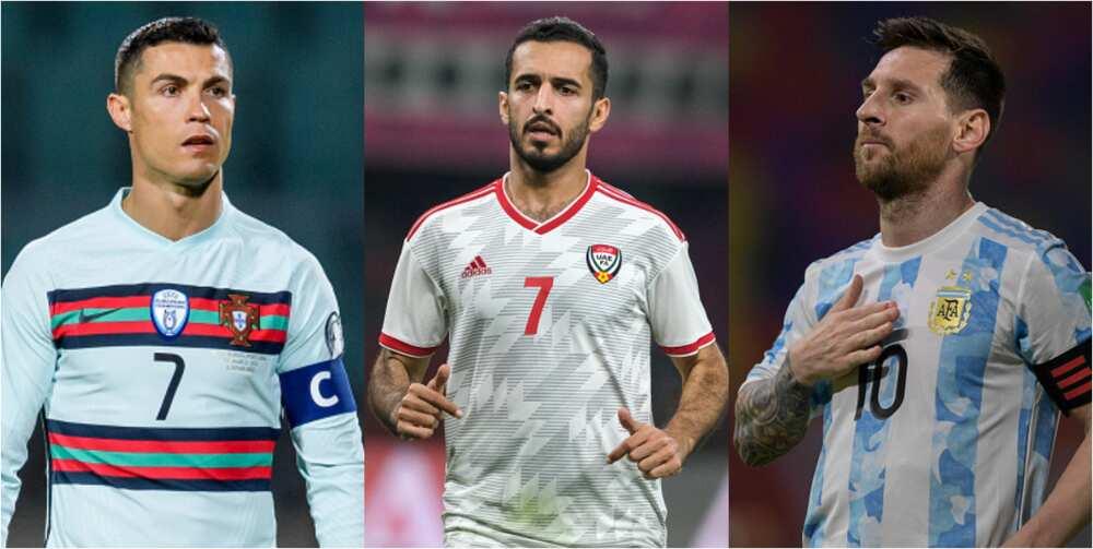 Arabian striker ranked ahead of Mess, now behind Ronaldo in most international goals scored