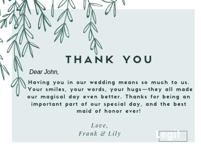 Write In The Wedding Thank You Cards
