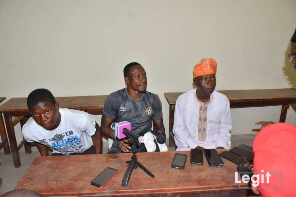 Daniel, Dele Aiyenugba and his father.