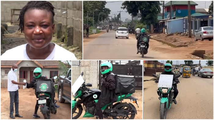 24-year-old lady uses her okada riding business to train herself in school, tells her story