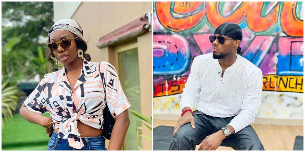 BBNaija's Tbaj reacts as MC throws shades her during Prince's homecoming event