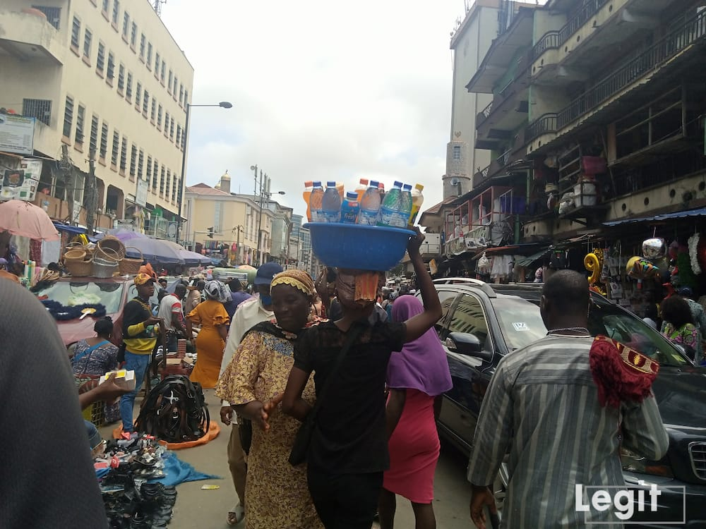 Business activities at a popular market in Lagos state. Photo credit: Esther Odili