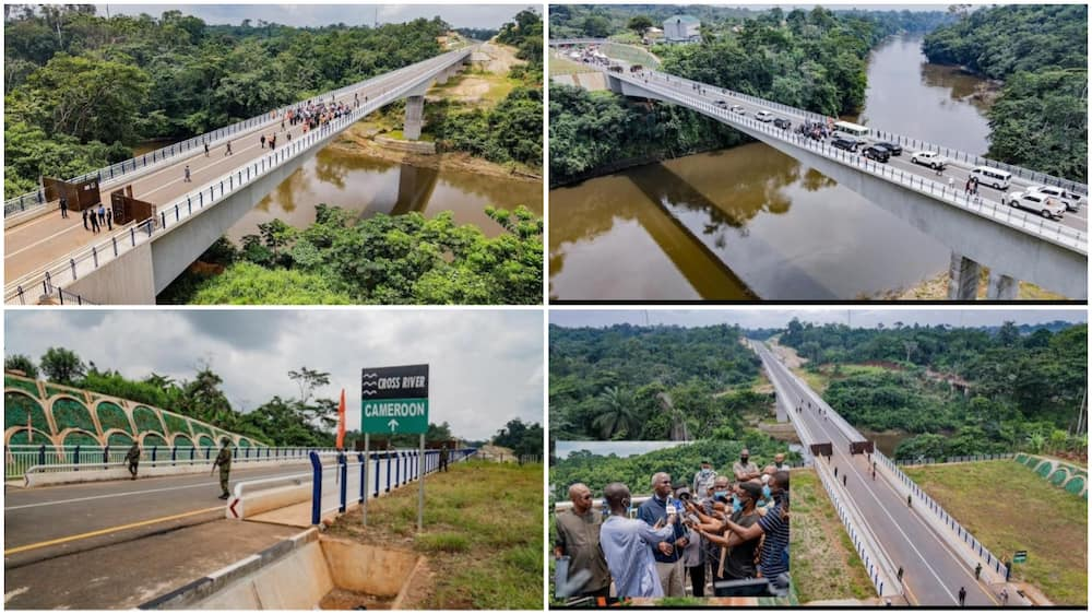Fashola Shares Photos of Newly Built Bridge in Cross River, It Links Nigeria to Cameroon