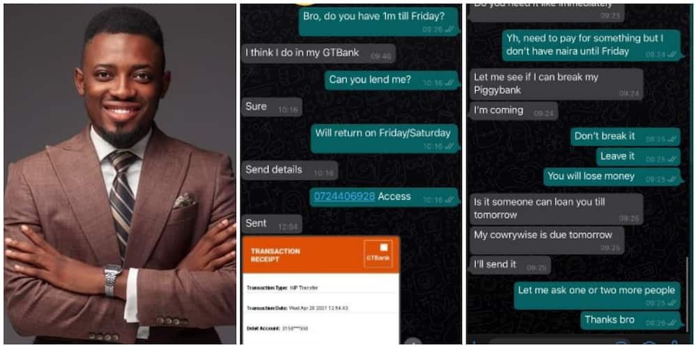 Nigerian Man Shares Chats of his Friends after he Asked for a Loan of N1m, Their Replies Stun the Internet