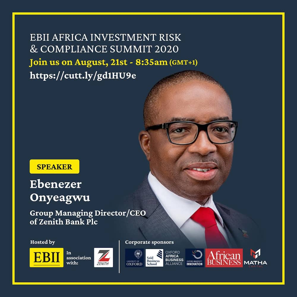 Zenith Bank: EBII Africa Investment Risk and Compliance Summit 2020