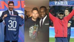 Super Eagles legend Jay Jay Okocha shares heartwarming statement after meeting Lionel Messi in Paris