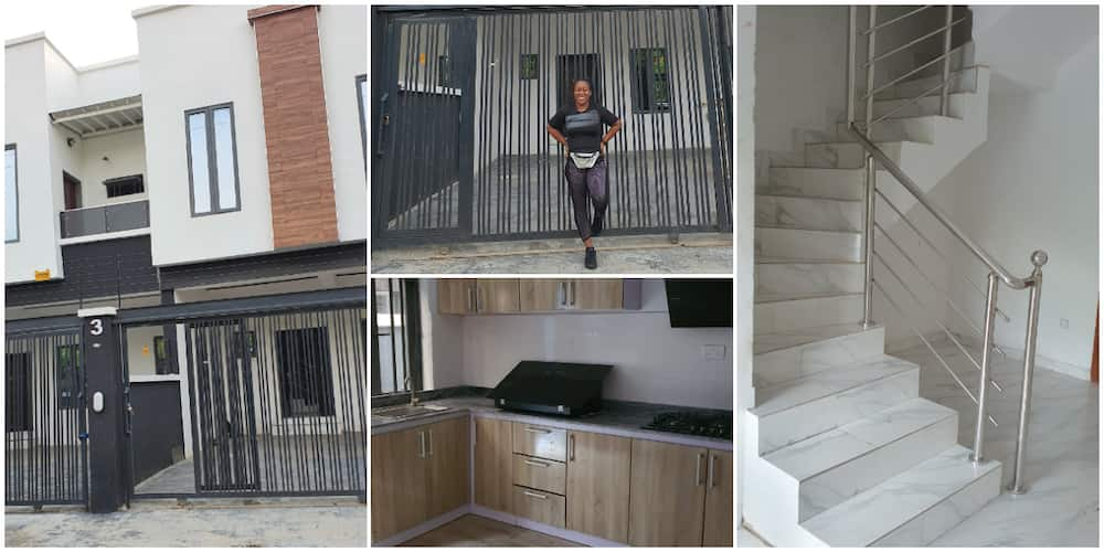 Nigerian Lady Who Had Worked From Her Room Acquires 4 Bedroom Duplex for Her Office, Shares Beautiful Photos