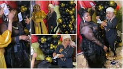 Laide Bakare sprays Eniola Badmus foreign currency at intimate birthday party, Bobrisky and others attend