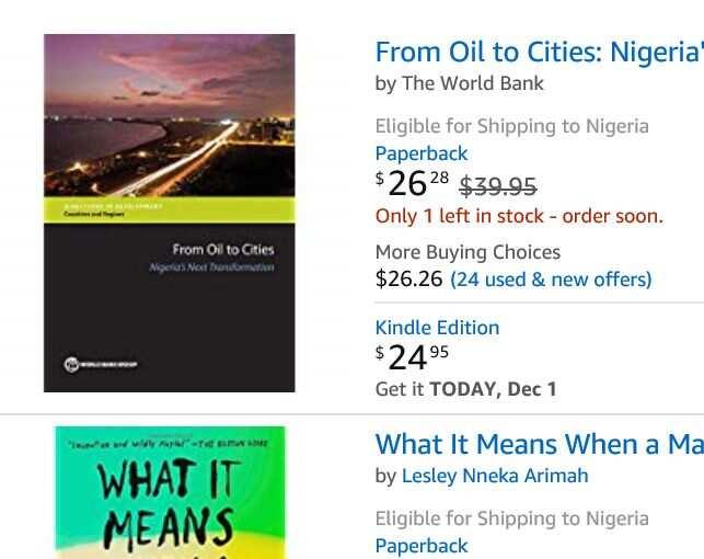 Amazon delivery to Nigeria