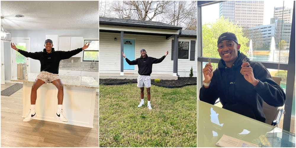 Massive celebration as young man acquires 1st house at 22, many react as he shares adorable photos
