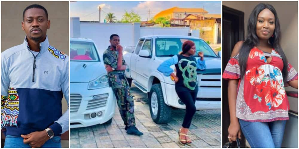 Congratulations pour in for actor Lateef Adedimeji and colleague Mo Bimpe as they flaunt new rides