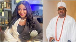 You don't want to go to war with me: Ini Edo reacts as popular blogger accused her of dating Oba Elegushi