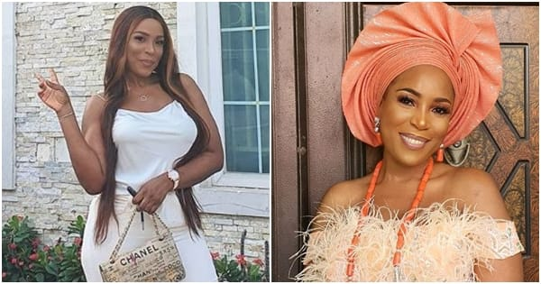 Blogger Linda Ikeji shows off 80 pairs of shoes she bought at the same time to celebrate 40th birthday (photos)
