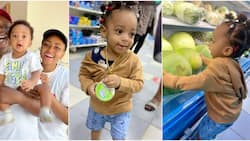 Ned Nwoko shares photos of Regina Daniels' son looking like a girl as he goes shopping