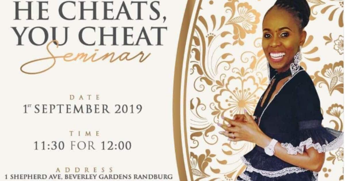 Women's conference tagged He Cheats, You Cheat gets people talking online