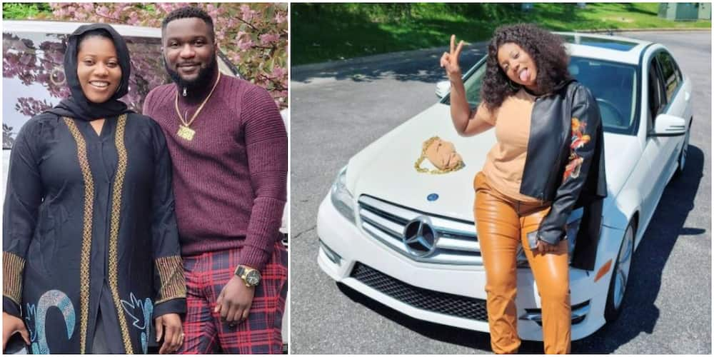 God When: Fans Gush As Actress Amarachi Igwe's Husband Buys Her Brand New Benz