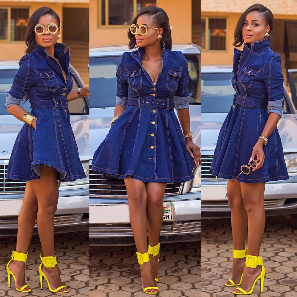 4db8e1bee05 Jeans gown styles for ladies in 2019 ▷ Legit.ng