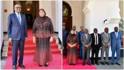 Money meets power: Photo of Africa's richest man Dangote & Tanzania's first female president stirs reactions