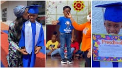 Tiwa Savage's son Jamil Balogun gives touching speech as he graduates from pre-school, fans gush