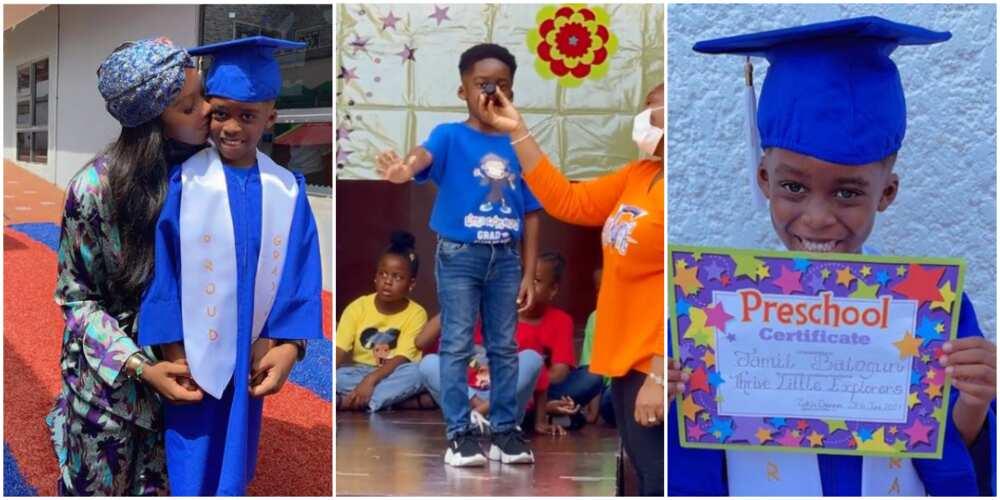 Tiwa Savage's son Jamil Balogun graduates.
