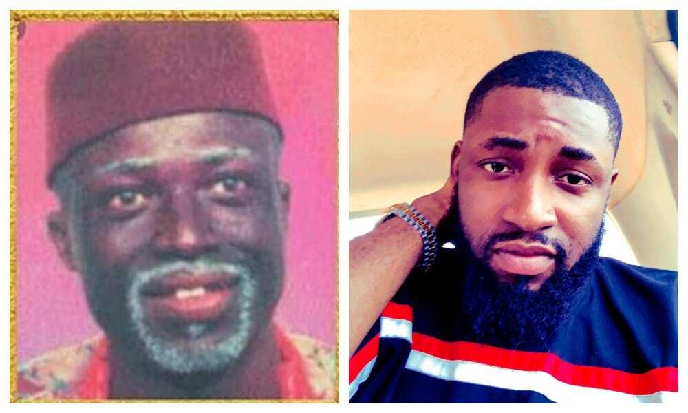 Baba Alaran and his son Deji
